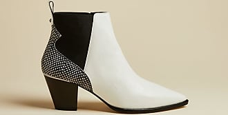 Ted Baker Embossed Croc Effect Western Leather Boots in White RILANIC, Womens Accessories