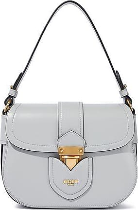 Moschino Moschino Woman Hidden Lock Leather Shoulder Bag Stone Size