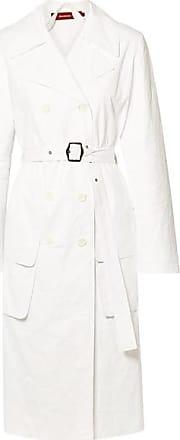Sies Marjan Nisa Crinkled-ripstop Trench Coat - White