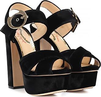 Charlotte Olympia Velvet plateau sandals