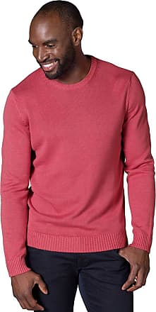 WoolOvers Mens 100% Cotton Crew Neck Fine Knit Pullover Knitted Jumper Sweater Azalea, XL