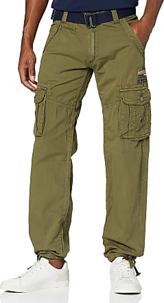 Geographical Norway Mens Padang Pant Trousers, Green (Kaki), 41 (Manufacture size: Large)