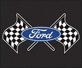 Fanmats Fan Mats Ford Flags Tailgater Utility Rug Black, Size: 5 x 6 ft. - 15861