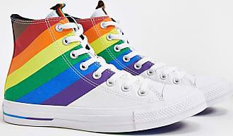 Converse Chuck Taylor All Star - Hohe Sneaker in Weiß und Regenbogenfarben-Mehrfarbig