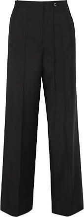 Jil Sander Wool And Mohair-blend Pants - Black