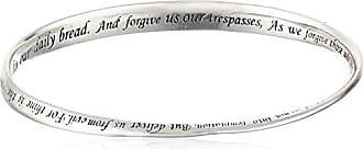Amazon Collection Sterling Silver Lords Prayer Bangle Bracelet, 8.75