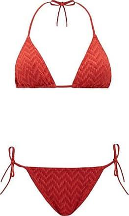 Eres Veston Woven-effect Triangle Bikini - Womens - Red