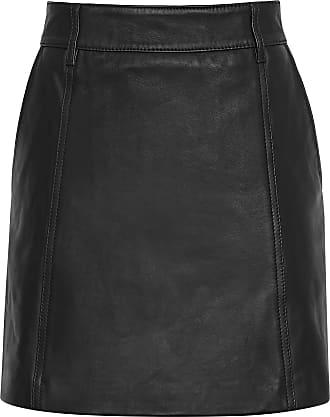 Reiss Mimi - Leather Mini Skirt in Black, Womens, Size 14