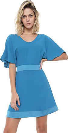 Ana Hickmann Vestido Ana Hickmann Curto Satin Azul