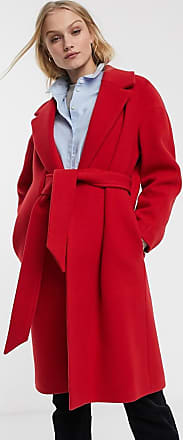 Whistles Magdelina belted wrap coat-Red