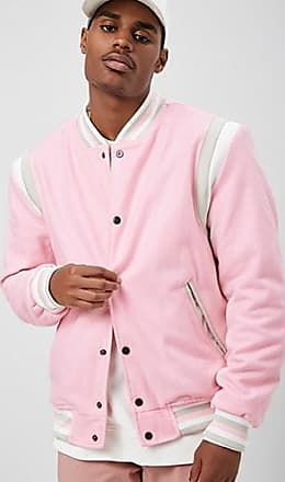 21 Men Reason Varsity Jacket at Forever 21 Pink
