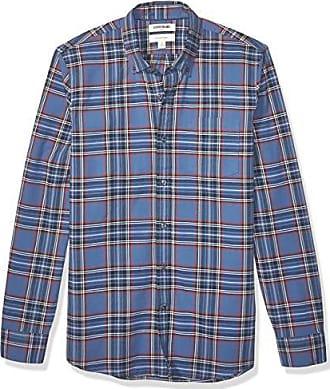 Brand Goodthreads Mens Standard-Fit Long-Sleeve Buffalo Plaid Oxford Shirt