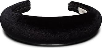 Jennifer Behr Headband Thada em veludo - Preto