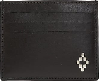 Marcelo Burlon Leather Card Case Mens Black