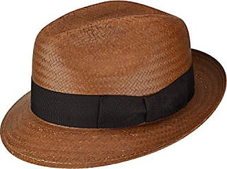 Bailey Mens Lando Fedora Trilby Hat, Cinnamon, M