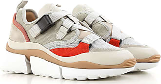 Chloé Sneakers for Women On Sale, Eucalyptus, Leather, 2017, 5 6 9