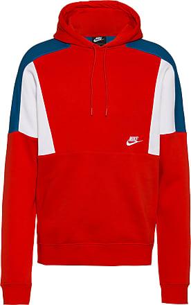Nike NSW Hoodie Herren in university red-white-white, Größe XXL