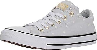 671e975f6e28 Converse Womens Madison Mini Dots Low Top Sneaker Pure Platinum Gold White 5  M