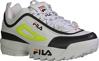 Fila Fila Mens Disruptor 2 Premium Fashion Sneakers White/Black/Sfty 10.5