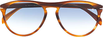 David Beckham Óculos de sol aviador tartaruga - Marrom
