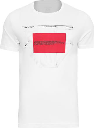 Calvin Klein CAMISETA MASCULINA TOP CIRCULAR CREW NECK - BRANCO
