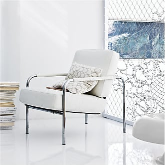 ZANOTTA Design Susanna Armchair Chrome Frame & White Leather