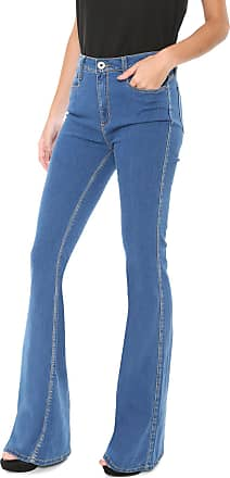 Enna Calça Jeans Enna Flare Pespontos Azul