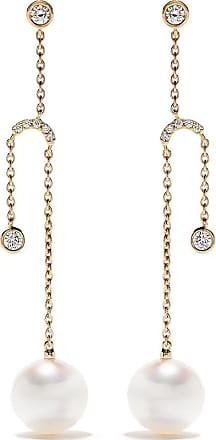 Yoko London 18kt yellow gold Trend diamond and pearl earrings - 6