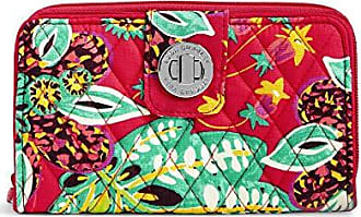 Vera Bradley Womens RFID Turnlock Wallet, Rumba, One Size