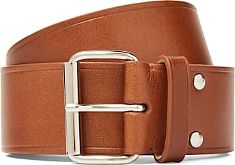A.P.C. 4cm Brown Leather Belt - Brown