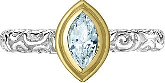 Dower & Hall Marquise Aquamarine Spiral Twinkle Ring