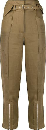 Iro cropped high-waist trousers - Brown