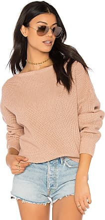 Callahan Fisher Off the Shoulder Sweater in Nude