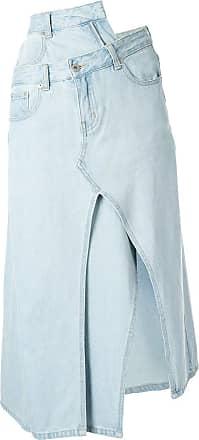 Ground-Zero asymmetric denim skirt - Azul
