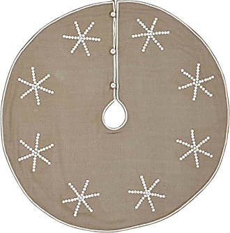 VHC Brands Holiday Decor Pearlescent Tree Skirt, 48 Diameter