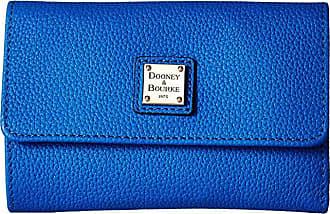 Dooney & Bourke Belvedere Flap Wallet (Royal Blue/Royal Blue Trim) Wallet Handbags