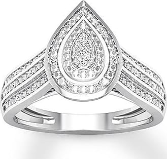 Kay Jewelers Diamond Teardrop Ring 1/15 ct tw Round-cut 10K White Gold