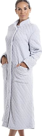Camille Soft Fleece Full Length Button Up Housecoat 12/14 Grey