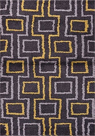 Well Woven Madison Shag Prism Place Grey Gold Modern Area Rug 33 X 53