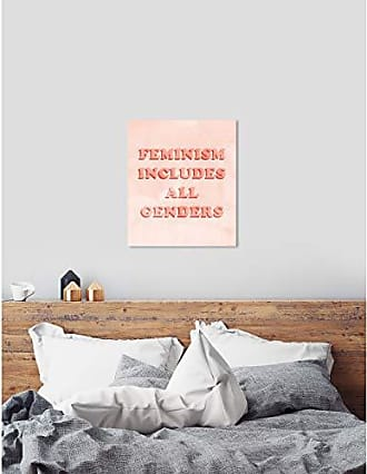 The Oliver Gal Artist Co. The Oliver Gal Artist Co. Typography and Quotes Wall Art Canvas Prints Including All Genders Home Décor, 30 x 36, Orange