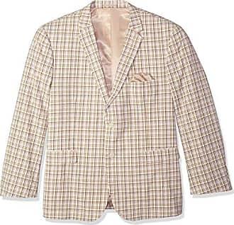 U.S.Polo Association Mens Big and Tall Seersucker Sport Coat, tan, 50 Regular