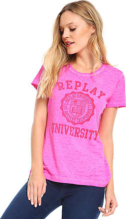Replay Camiseta Replay Estampada Rosa