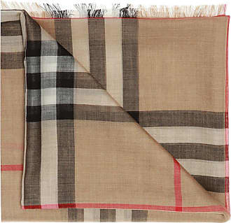 Burberry Patterned Scarf Mens Brown
