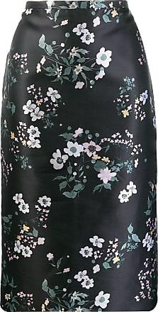 Rochas Saia lápis com estampa floral - Preto