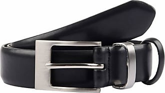 Dents Mens Classic Leather Belt - Black - Extra Large