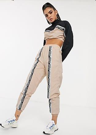 adidas Originals RYV taping track pants in blush-Cream