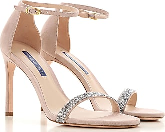Stuart Weitzman Sandals for Women On Sale, Nude Rose, Suede leather, 2017, 10