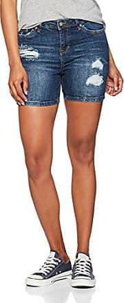 c0d53d7f71f104 Tom Tailor Damen Shorts Cajsa Distressed Blue, Blau (Mid Stone Wash Denim  1052)