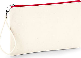 Westford Mill Canvas Wristlet Pouch (26 x 17cm) (Natural/Red)