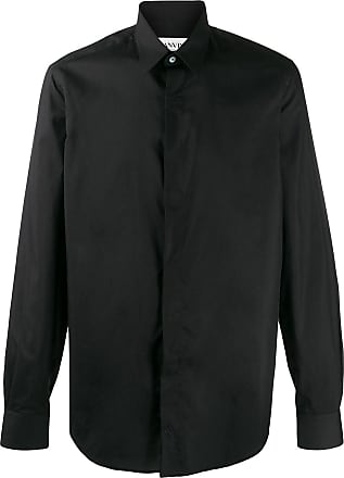 Lanvin concealed plaquet shirt - Black